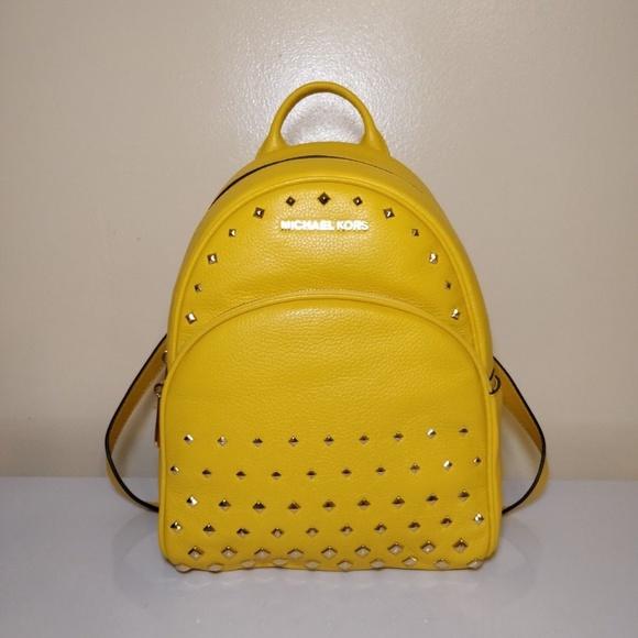 Michael Kors Abbey Medium Studded Backpack Citrus 284abdfe6743a